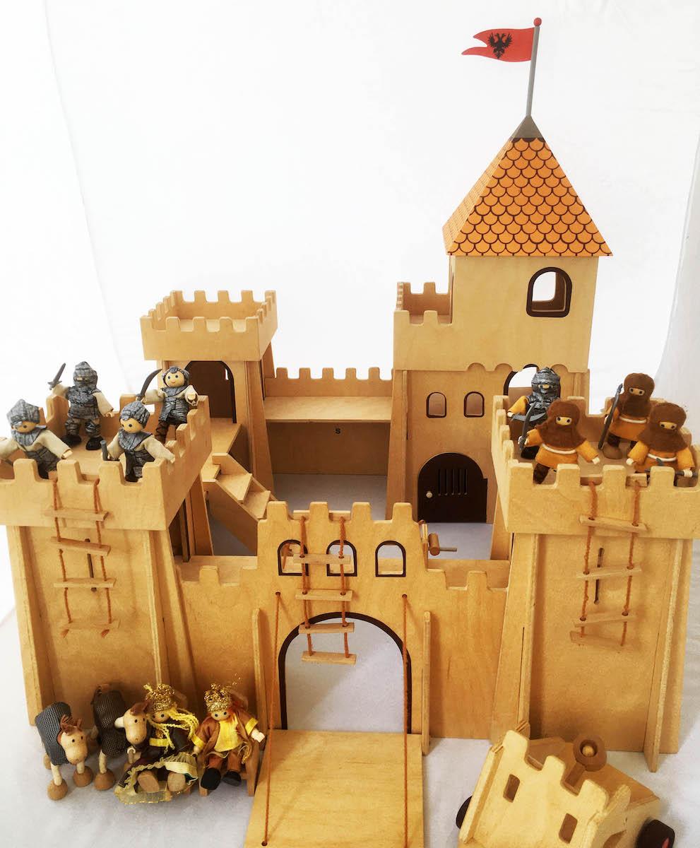 Wooden Castle Playset photo